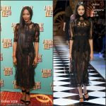 Naomi Campbell In Dolce and Gabbana At A Bronx Tale Musical Broadway Opening Night
