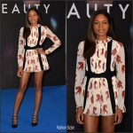 Naomie Harris  In Giamba  At Collateral Beauty London Photocall