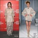 "Olivia Munn  In Reem Acra At ""Office Chrismas Party"" New York Screening"