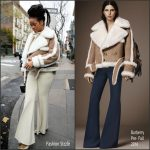 Rihanna In Burberry Shearling – Out In New York