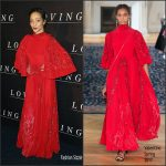 "Ruth Negga  In Valentino  At  ""Loving"" Paris Premiere"