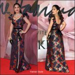 Salma Hayek in Gucci at the 2016 British Fashion Awards