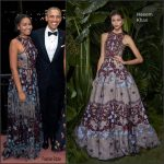 Sasha Obama  In Naeem Khan On The  White House 2016  Christmas Card