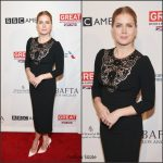 Amy Adams  In Dolce and Gabbana At 2017 BAFTA Tea Party In LA