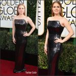 Amy Adams In Tom Ford At 2017 Golden Globe Awards