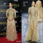 Camila Alves  In Marchesa At Gold New York Premiere