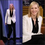 Cate Blanchett In Givenchy  At The Tonight Show Starring Jimmy Fallon