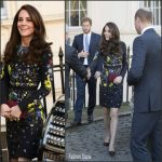 Catherine, Duchess of Cambridge In Erdem At 2017 Virgin Money London Marathon Announcement
