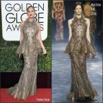 Chrissy Teigen  In Marchesa At The 2017 Golden Globe Awards