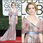Claire Foy  In Erdem  At the 2017 Golden Globe Awards