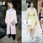 Elle Fanning In Max Mara  At  Glamour Magazine Lunch During Sundance 2017