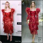 Elle Fanning  In Rodarte At The Harper's Bazaar 150 Most Fashionable Women Celebration