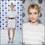 Emma  Roberts In Huishan Zang  At LA Art Show 2017