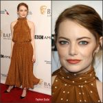 Emma Stone  In Diane Von Furstenberg  At 2017  BAFTA Tea  Party In LA