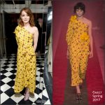 Emma Stone  In Gucci  At  W Magazine  Golden Globes Party 2017