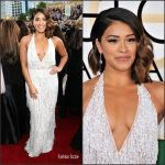Gina Rodriguez In Naeem Khan At The 2017 Golden Globe Awards