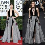 Jessica Biel  In Elie Saab   At The  Golden Globe 2017 Awards