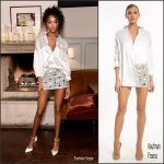 Jourdan Dunn  In Kaufman  Franco At  W Magazine's It Girls with Stuart Weitzman