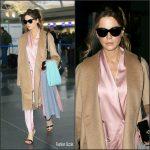 Kate Beckinsale   In Silk Pajamas  AT JFK