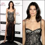 Kendall Jenner In La Perla At The Harper's Bazaar 150 Most Fashionable Women Event