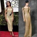 Kerry Washington  In Dolce and Gabbana At The 2017 Golden Globe Awards