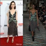 Lily Collins In  Christian Dior At   2017  BAFTA Tea  Party In LA