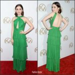 Lily Collins  In Emanuel Ungaro  At The 28th Annual Producers Guild Awards