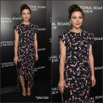 Maggie Gyllenhaal  In Marni At   The National Board Of Review Gala In New York
