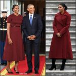 Michelle Obama   In Jason Wu  At  Her  Final  First Lady Appearance
