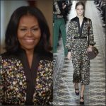 Michelle Obama  In Tory Burch Introducing the Obama Foundation