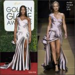 Naomi Campbell  In Atelier Versace At The 2017 Golden Globe Awards