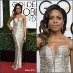 Naomie Harris  In Armani Privé At the 2017  Golden Globe Awards