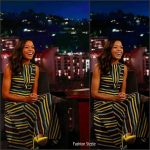 Naomie Harris In Emilia Wickstead  At Jimmy Kimmel Live
