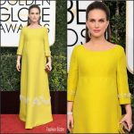 Natalie Portman  In Prada At The  Golden Globe 2017 Awards