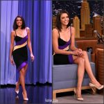 Nina Dobrev In David Koma  At The Tonight Show Starring Jimmy Fallon
