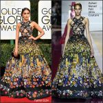 Olivia Culpo  In Zuhair Murad At The 2017 Golden Globe Awards