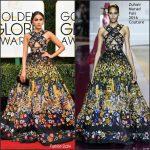 Olivia Culpo  In Zuhair Murad At The 2017 Golden Globe Awards