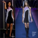 Priyanka Chopra  In Versace At Jimmy Kimmel Live