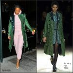 Rihanna  In Vetements X Champion  & Burberry  In New York
