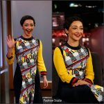 Ruth Negga In Mary Katrantzou  At Jimmy Kimmel Live