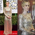 Sarah Paulson In Marc Jacobs At the 2017 Golden Globe Awards