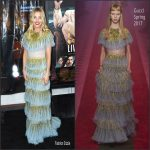 Sienna Miller  In Gucci At Live By Night LA Premiere