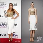 Sofia Vergara  In Marchesa At The 2017 People's Choice Awards