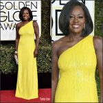 Viola Davis  In Michael Kors  At The 2017 Golden Globe Awards