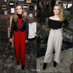 Elizabeth Olsen In Dries Van Noten At  'Wind Dance' Sundance Film Festival Premiere