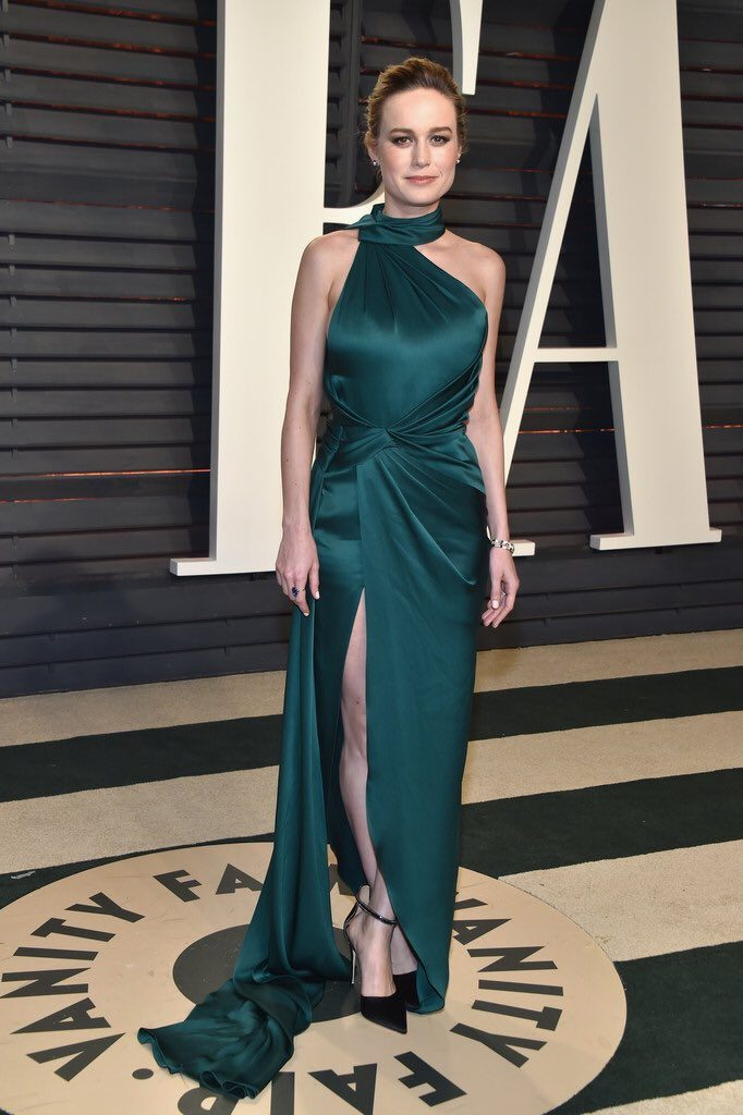 65e63bde81c8 Brie Larson wore a dark green Ralph and Russo Spring 2017 Couture gown