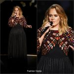 Adele In Givenchy Performing At The 2017 Grammy Awards