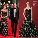Catherine, Duchess of Cambridge In Alexander McQueen – 2017 BAFTAs