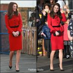 Catherine Duchess of Cambridge In Luisa Spagnoli – Mitchell Brook Primary School Visit