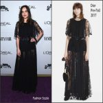 Dakota Johnson  In Christian Dior – Vanity Fair Young Hollywood Party 2017